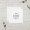 Custom logo, white, square, professional square business card 9