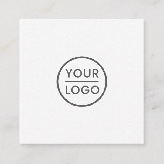 Custom logo, white, square, professional square business card 1