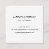 Custom logo, white, square, professional square business card 8