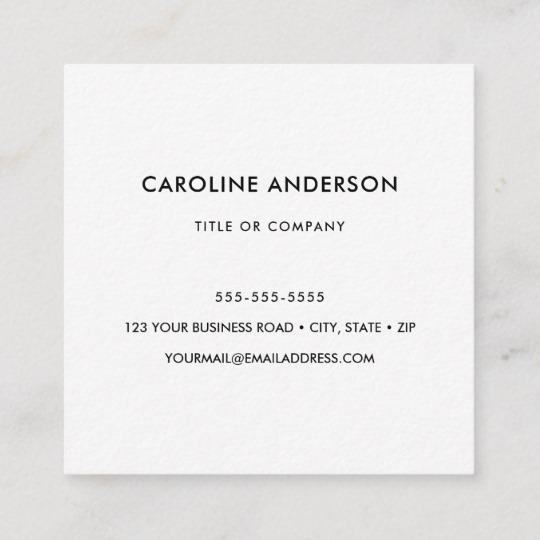 Custom logo, white, square, professional square business card 4