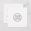 Custom logo, white, square, professional square business card 7