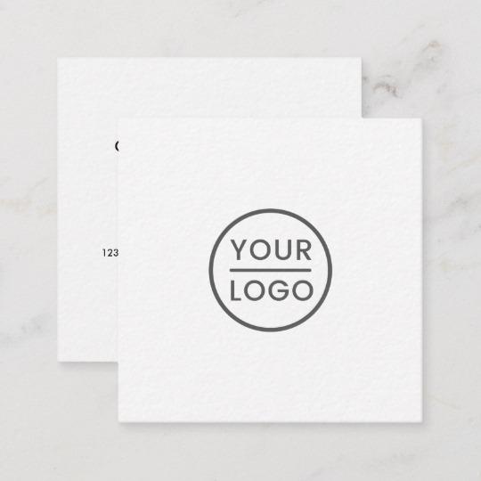 Custom logo, white, square, professional square business card 3