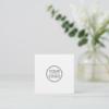 Custom logo, white, square, professional square business card 6
