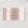Makeup Artist Eyelash Lashes Glitter Drips Rose Business Card 5