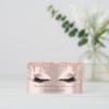 Makeup Artist Eyelash Lashes Glitter Drips Rose Business Card 7